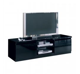 Mobile TV nero ideale per televisori fino a 65 pollici. Elevato spessore del top.