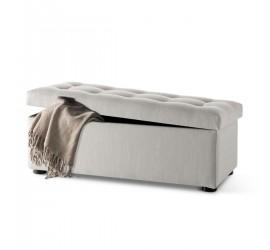 Panchetta imbottita alta Trapuntata in tessuto o ecopelle con contenitore, 86 x 39 cm