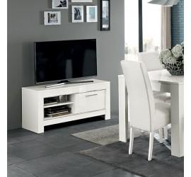 Modena Mobile Porta TV Bianco Laccato Lucido, 112 x 45 x h54 cm