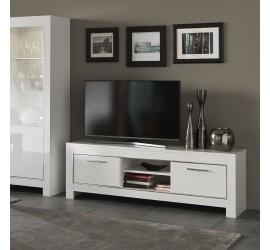 Modena Mobile Porta TV Bianco Laccato Lucido, 160 x 45 x h54 cm