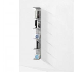 Scaffale Verticale Steps 6 ripiani grigio antigraffio, 18 x  160 cm