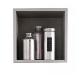 Mensola Cabi quadrata 1 vano grigio frassino antigraffio, 25.5 x 25.5 cm