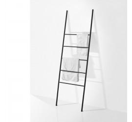 SCAY Scala Porta Ascuigamani in metallo 50 x h160 cm, nero opaco