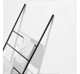 SCAY Scala Porta Asciugamani in metallo 50 x h160 cm, nero o bianco opaco
