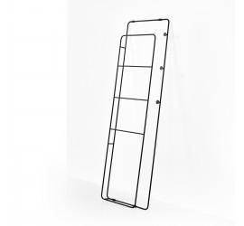 Appendi Abiti Porta Asciugamani in metallo 48 x h160 cm con ganci, nero opaco. Altezza 160 cm - Larghezza 48 cm.