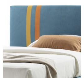 Letto una Piazza e Mezza Line Basic in tessuto con Rete, 120x190 cm