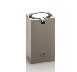Set Accessori Bagno Tortora/Cromo con Dispenser Bicchiere Portasapone Portascopino