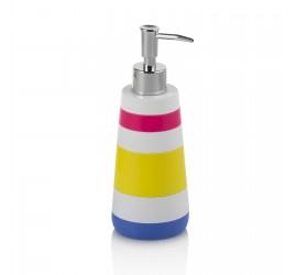 Set Accessori Bagno Multicolore con Dispenser Bicchiere Portasapone Portascopino