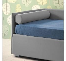 Cuscino Rullo Bracciolo Letto Divano in Tessuto o Ecopelle, 80 cm