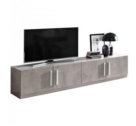 Greta Mobile Porta TV Marmo Laccato Lucido 4 Ante, 208 x 47 x h45 cm