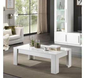 Greta Tavolino da Salotto Bianco Laccato Lucido, 126 x 66 x h42 cm