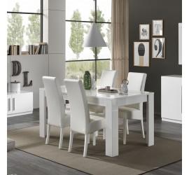 Greta Tavolo da Pranzo Bianco Laccato Lucido, 160 x 90 cm