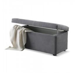 Panchetta imbottita alta in tessuto o ecopelle con contenitore, 86 x 39 cm
