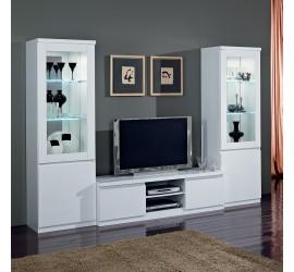 Roma Mobile Porta TV Bianco Laccato Lucido, 150 x 50 x h45 cm